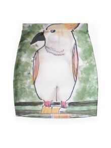 In sweet memory of my cockatoo, watercolor Mini Skirt