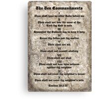 Rules to Live By Canvas Print