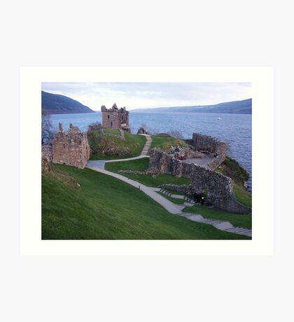 Loch Ness Castle Art Print