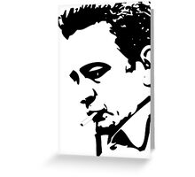 SOLID BLACK PROFILE Greeting Card
