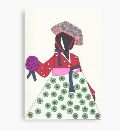 Korean Woman Canvas Print