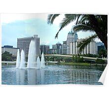 Orlando lakefront Poster