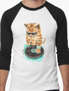 Scratch Master Kitty Cat Men's Baseball ¾ T-Shirt