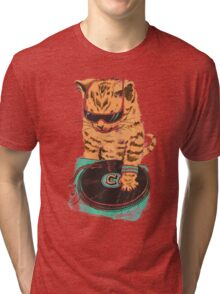 Scratch Master Kitty Cat Tri-blend T-Shirt