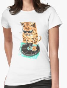 Scratch Master Kitty Cat Womens Fitted T-Shirt