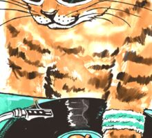 Scratch Master Kitty Cat Sticker