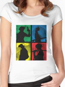 Watanabe's Classic Main Characters Women's Fitted Scoop T-Shirt