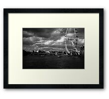 The Eye of the Storm. Framed Print