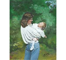 Callie and Me/Oil on canvas Photographic Print