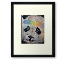 Hippy Panda Framed Print