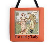 mlady feminist humor Tote Bag
