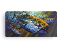 Deep Blue Blitz Canvas Print