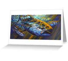 Deep Blue Blitz Greeting Card