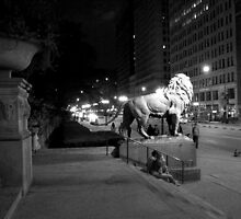 Chicago Art Institute Lion by Rebecca Luering