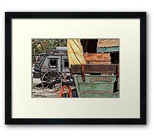Westward Wagons Framed Print