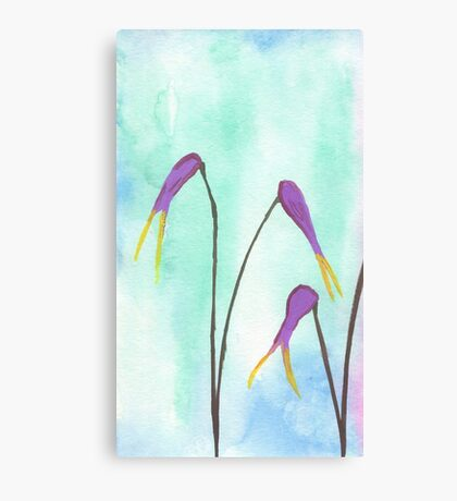 Scissors Flowers Canvas Print