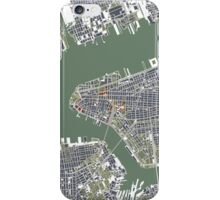 New York  city map vintage iPhone Case/Skin