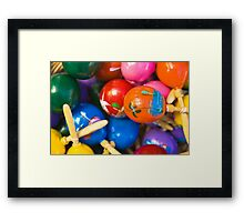 A Basket Of Maraccas Framed Print