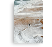 Braving Bell's Beach Canvas Print