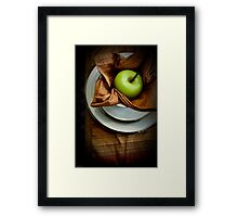 The Placesetting Framed Print