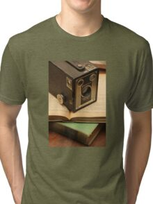 Vintage Camera and Books Tri-blend T-Shirt