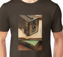 Vintage Camera and Books Unisex T-Shirt