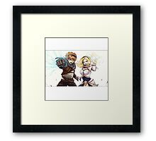 League Of Legends Lux Ezreal Framed Print