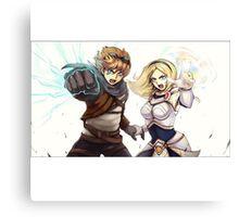 League Of Legends Lux Ezreal Canvas Print