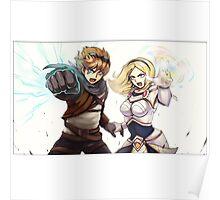 League Of Legends Lux Ezreal Poster