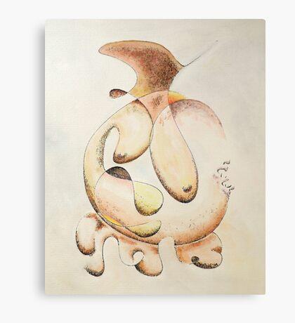 "Irregular Feminine Vase - watercolor - 8"" x 10"" Canvas Print"