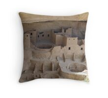 Cliff Palace Cliff Dwelling Throw Pillow