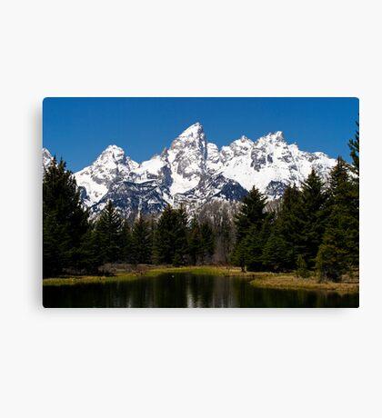 "Midday ""Grand"" View - Teton National Park Canvas Print"