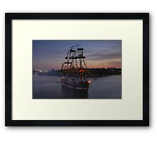 Invading Pirates Framed Print
