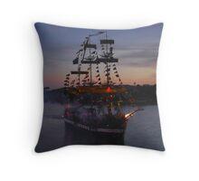 Invading Pirates Throw Pillow