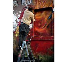 Graffiti artists at work Photographic Print