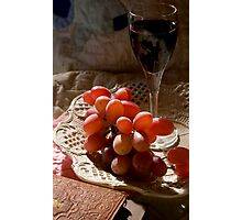 Still Life With Grapes Photographic Print