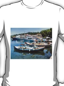 BOATS IN THASSOS HARBOUR.1. T-Shirt