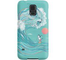 surfing zebra Samsung Galaxy Case/Skin