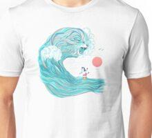 surfing zebra Unisex T-Shirt