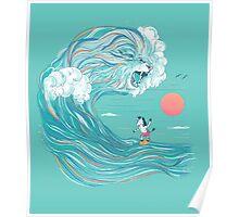 surfing zebra Poster