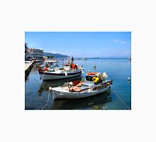 BOATS IN THASSOS HARBOUR.2. Unisex T-Shirt