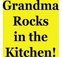 Grandma Rocks In The Kitchen! Photographic Print