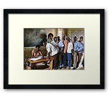 Know your status Framed Print