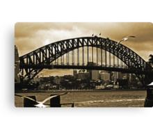 Sydney Harbour Bridge In Sepia Canvas Print