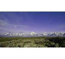 Teton Mountain Range Photographic Print