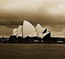 Sydney Opera House in Sepia by Evita