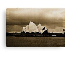 Sydney Opera House in Sepia Canvas Print