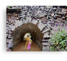 Ancient Tunnel of Love. Canvas Print