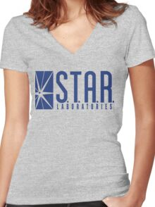S.T.A.R. Laboratories Women's Fitted V-Neck T-Shirt