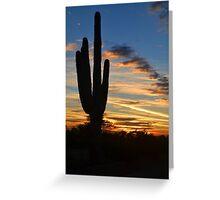 Saguaro Sunset 1 Greeting Card